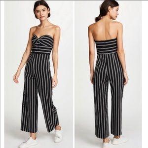 NWT Veronica Beard Striped Strapless Jumpsuit